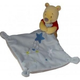 Accueil Disney Doudou Disney Ours Jaune Winnie mouchoir Etoile Bleu Pantin -