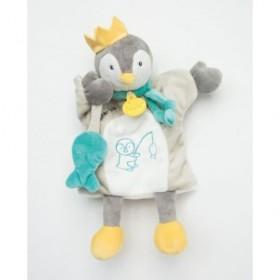 Accueil Babynat doudou Babynat Pingouin Gris Il était une fois Marionnette