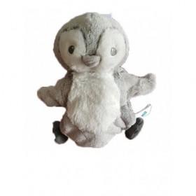 Accueil Tex Doudou Tex Pingouin Gris marionnette -