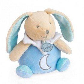 Accueil Babynat Doudou Babynat Lapin Bleu Luminescent Musical -