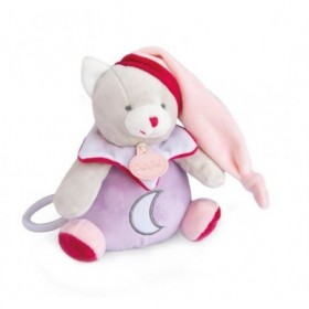 Accueil Babynat Doudou Babynat Chat Rose Luminescent Musical -