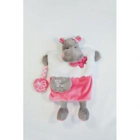 Accueil Babynat doudou Babynat Hippopotame Rose Zoe BN0282 Lettre T Les Douillettes Marionnette