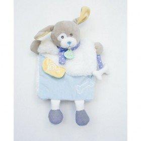 Accueil Babynat doudou Babynat Chien Bleu Bleu Jaune lettre O BN0282 Les Douillettes Marionnette