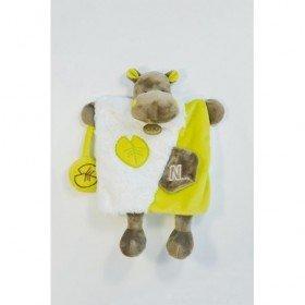 Accueil Babynat doudou Babynat Hipoppotame Vert Basile blanc BN0282 Lettre N Les Douillettes Marionnette
