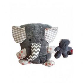 Accueil Histoire d'ours Doudou Histoire d'ours Elephant Gris Couverture -