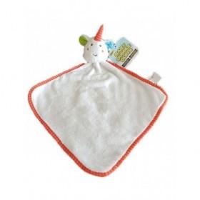 Accueil Z'autres marques Doudou Action Licorne Blanc Grelot Plat -