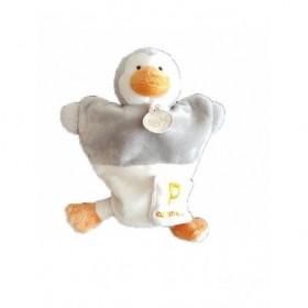 Accueil Babynat Doudou Babynat Pingouin Blanc Gris P comme marionnette -