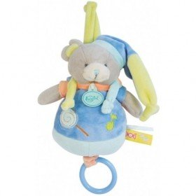 Accueil Babynat doudou Babynat Ours Bleu BN0127 Gourmandises Musical
