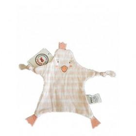 Accueil Z'autres marques Doudou La compagnie des Petits Pingouin Rose Poussin rayee Plat -