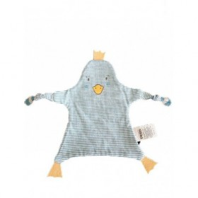 Accueil Z'autres marques Doudou La compagnie des Petits Pingouin Bleu Poussin rayee Plat -