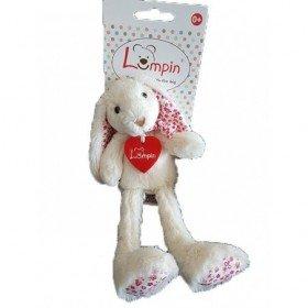 Accueil Z'autres marques Doudou Lampin Lapin Blanc Liberty fleur rouge Pantin -