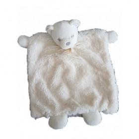 Accueil Kaloo Doudou Kaloo Ours Blanc Perle Plat -