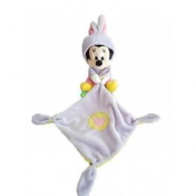 Accueil Disney Doudou Disney Souris Violet Combinaison deguise en lapin mouchoir Pantin - Minnie