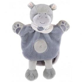 Accueil Babynat doudou Babynat Hippopotame Gris Kembo BN908 Savane Marionnette