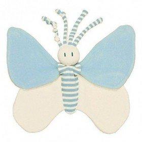 Accueil Z'autres marques Doudou Keptin JR Papillon Bleu Premature Bio Plat - Bondifly