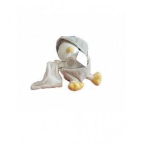 Accueil Doudou et Compagnie Doudou Doudou et compagnie Poussin Gris avec mouchoir blanc Pantin -