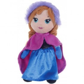Accueil Disney Doudou Disney Poupée Bleu Anna Cape Violet Pantin - La Reine Des Neiges