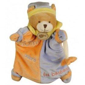 Accueil Babynat doudou Babynat Ours Violet Tom Adore Les Bonbons Les Classiques Marionnette