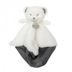 Accueil Babynat Doudou Babynat Ours Blanc Plat - Pap'ours