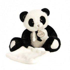 Accueil Babynat Doudou Babynat Panda Noir Pantin - P'tit Panda