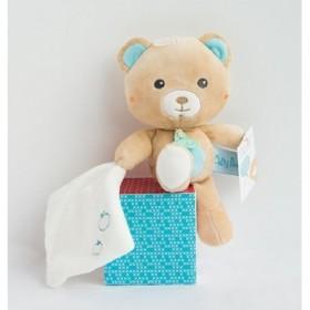 Accueil Babynat doudou Babynat Ours Blanc Mouchoir Bleu Kawaii Pantin