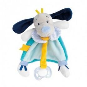Accueil Babynat Doudou Babynat Chien Bleu Attache tétine - Pepin