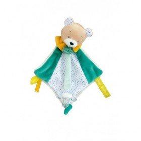 Accueil Babynat Doudou Babynat Ours Vert Attache tétine - Les Super doudous