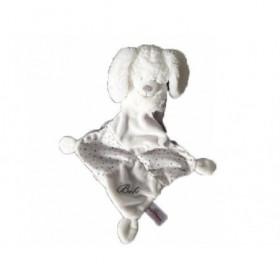 Accueil Pommette Doudou Pommette Lapin Blanc mouchoir pois gris bébé Pantin -