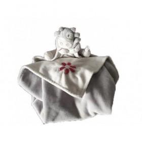Accueil Noukies Doudou Noukies Vache Blanc Couverture - Lola