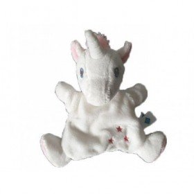 Accueil Tex Doudou Tex Licorne Blanc marionnette -