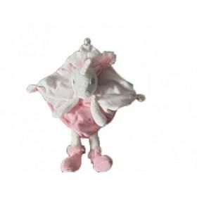 Accueil Tex Doudou Tex Licorne Blanc et Rose Plat -