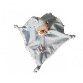 Accueil Nattou Doudou Nattou Ours Bleu bonnet et etoile Plat - Bibou
