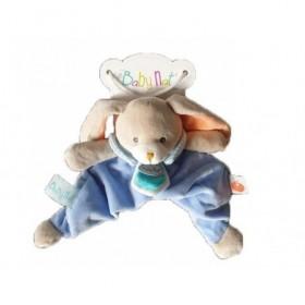 Accueil Babynat Doudou Babynat Lapin Bleu Pantin - Pom