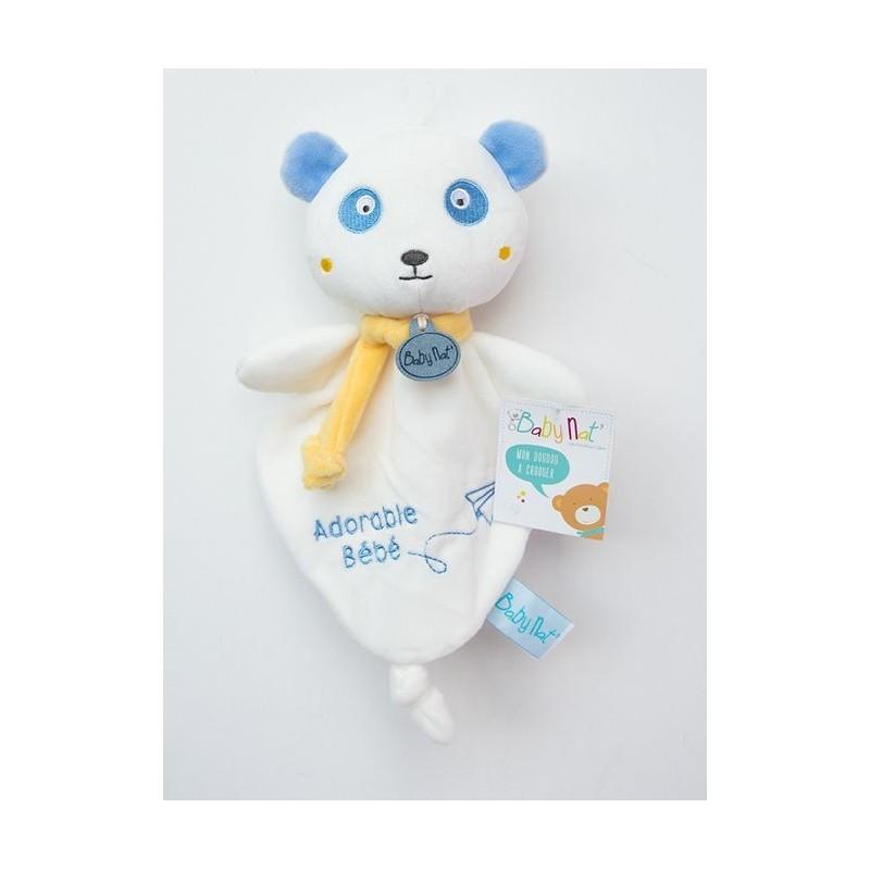 Accueil Babynat doudou Babynat Ours Blanc Bleu Adorable Bebe Kawaii Plat