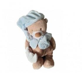 Accueil Nattou Doudou Nattou Ours Marron Lune blanche et bonnet bleu Pantin - Bibou
