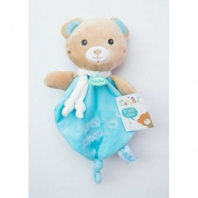 Accueil Babynat doudou Babynat Ours Bleu Trop Chou Kawaii Plat