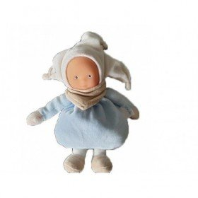 Accueil Corolle Doudou Corolle Poupée Bleu Lutin Hochet Bonnet blanc Pantin -