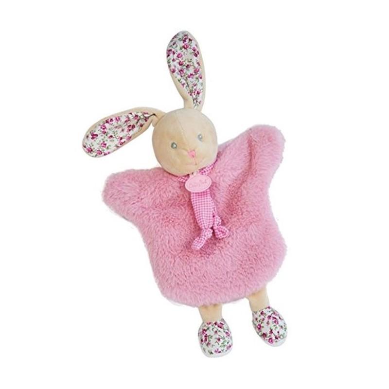 Accueil Babynat doudou Babynat Lapin Rose Les Poupis Les Douillettes Marionnette