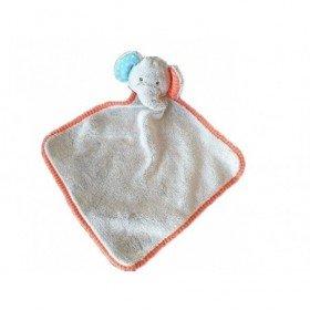 Accueil Z'autres marques Doudou Zd trading Elephant Gris hochet liseret orange Action Plat -