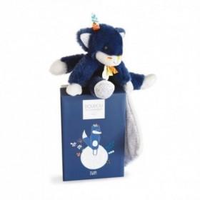 Accueil Doudou et Compagnie Doudou Doudou et compagnie Loup Bleu avec mouchoir  Pantin - Tiwipi
