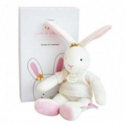 Accueil Doudou et Compagnie Doudou Doudou et compagnie Lapin Rose Fleurs - 25 cm Pantin - Poudre de Perlidoudou