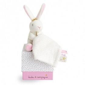 Accueil Doudou et Compagnie Doudou Doudou et compagnie Lapin Rose Fleurs - 10 cm pantin - Poudre de Perlidoudou
