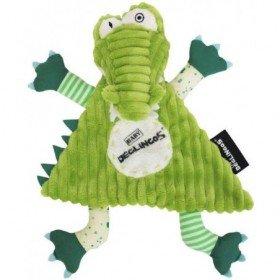 Accueil Deglingos Doudou Deglingos Crocodile Vert Plat - Aligatos