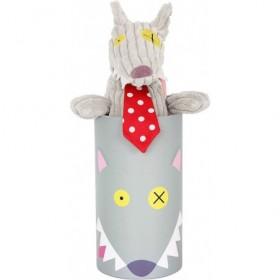 Accueil Deglingos Doudou Deglingos Loup Noir 30 cm Pantin - Bigbos