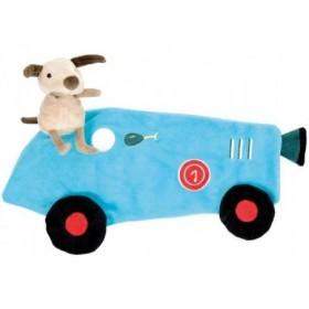 Accueil Z'autres marques Doudou Egmont Toys Chien Bleu Dans une voiture de course Racecar Plat -
