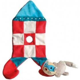 Accueil Z'autres marques Doudou Egmont Toys Chat Rouge dans une fusée a carreau Rocket Plat -