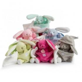Accueil Babynat doudou Babynat Lapin Vert dans l'œuf Mouchoir Blanc Lapin de Pâques Pantin