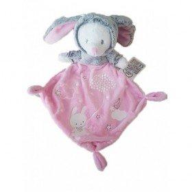 Accueil Mots d'enfants Doudou Mots d'enfants Ours Rose Déguisé en lapin Plat - Luminescent