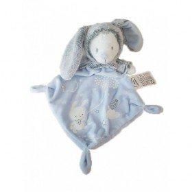 Accueil Mots d'enfants Doudou Mots d'enfants Ours Gris Bleu Déguisé en lapin Plat - Luminescent