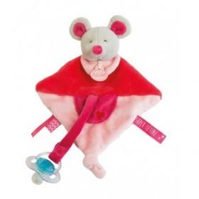 Accueil Babynat doudou Babynat Souris Rose cœur 20cms BN0133 Super Tetine Plat